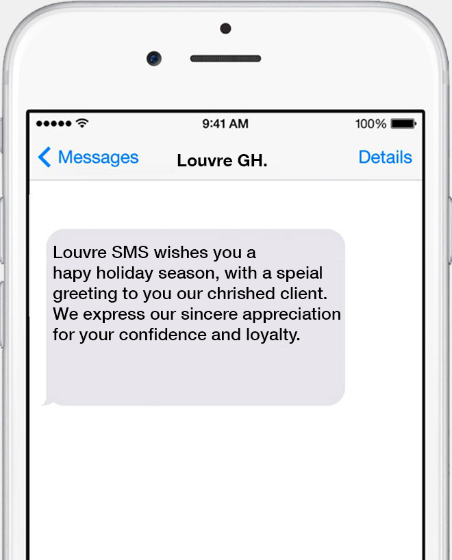Louvre SMS